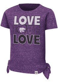 K-State Wildcats Toddler Girls Colosseum Bossy Boots T-Shirt - Purple