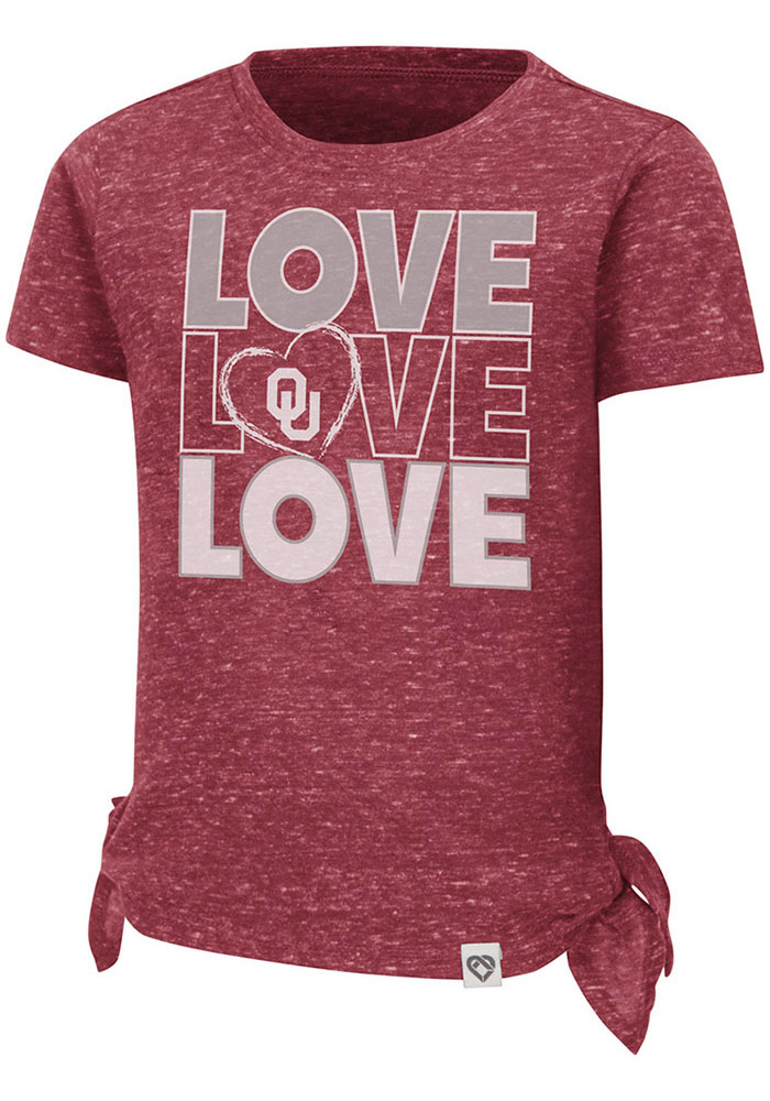 Colosseum Oklahoma Sooners Toddler Girls Cardinal Bossy Boots Short Sleeve T-Shirt - Image 1