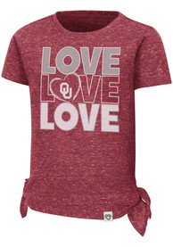 Oklahoma Sooners Toddler Girls Colosseum Bossy Boots T-Shirt - Cardinal