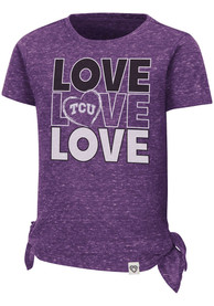TCU Horned Frogs Toddler Girls Colosseum Bossy Boots T-Shirt - Purple