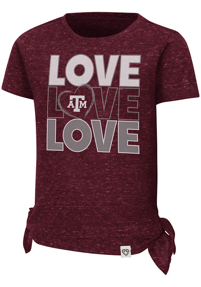 Texas A&M Aggies Toddler Girls Colosseum Bossy Boots T-Shirt - Maroon