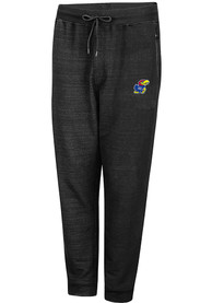 Colosseum Kansas Jayhawks Black Challenge Accepted Jogger Pants