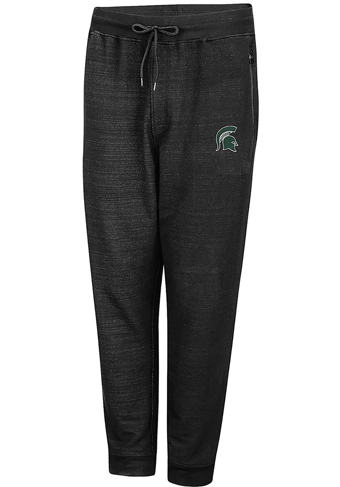 Colosseum Michigan State Spartans Mens Black Challenge Accepted Jogger Pants - Image 1