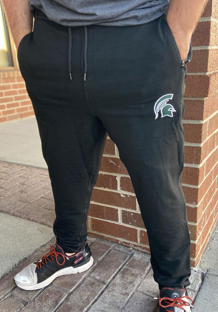 Colosseum Michigan State Spartans Mens Black Challenge Accepted Jogger Pants - Image 2