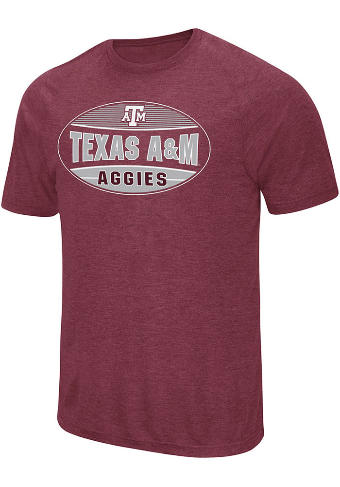 Colosseum Texas A&M Aggies Maroon Jenkins Short Sleeve T Shirt - Image 1