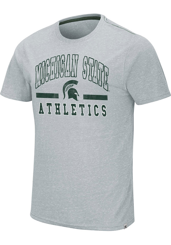 Colosseum Michigan State Spartans Grey Ducky Tie Tee