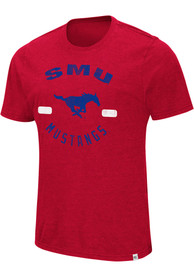 Colosseum SMU Mustangs Red High Fives Tee