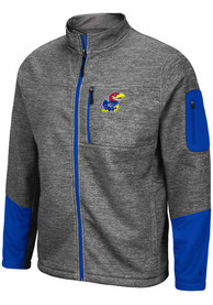 Colosseum Kansas Jayhawks Grey Matchmaker Light Weight Jacket