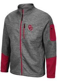 Colosseum Oklahoma Sooners Grey Matchmaker Light Weight Jacket
