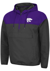 K-State Wildcats Colosseum Lawyered Light Weight Jacket - Charcoal