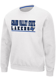 Grand Valley State Lakers Colosseum Rally Crewneck Crew Sweatshirt - White