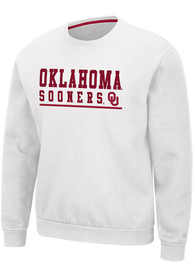 Oklahoma Sooners Colosseum Rally Crewneck Crew Sweatshirt - White