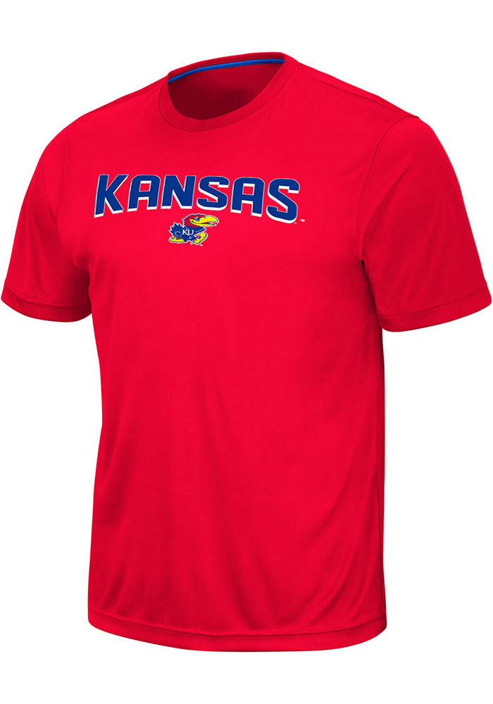 Colosseum Kansas Jayhawks Red Marshpillow Short Sleeve T Shirt - Image 1