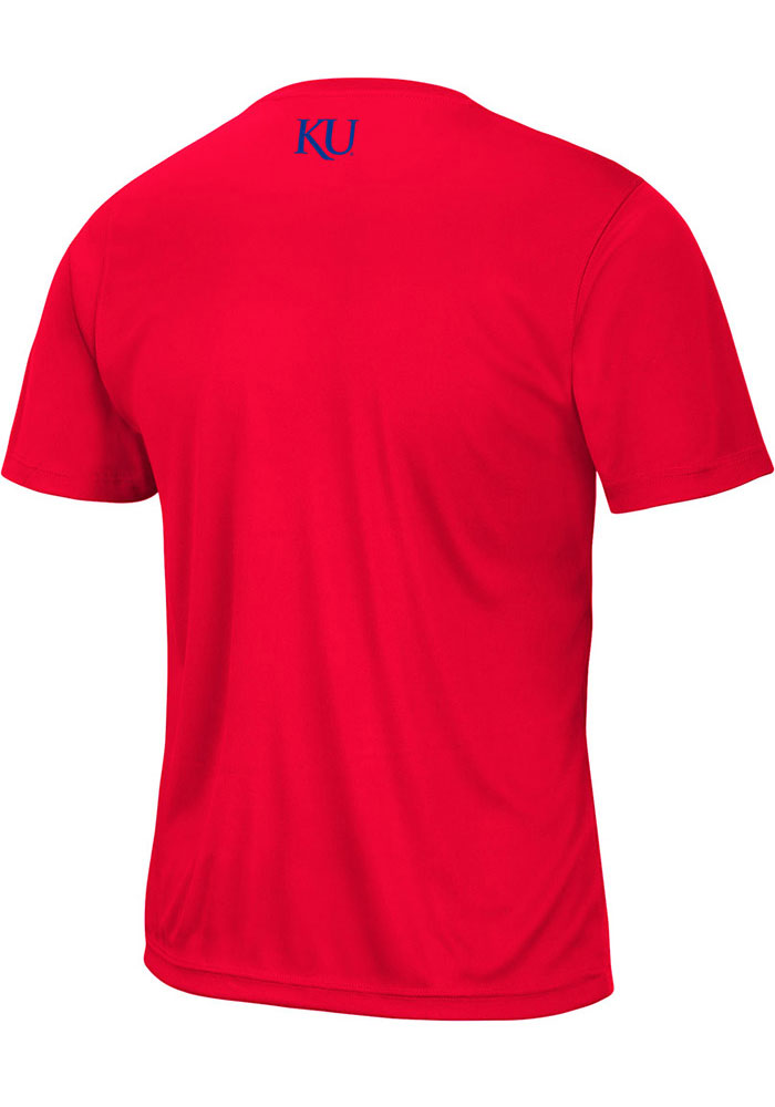 Colosseum Kansas Jayhawks Red Marshpillow Short Sleeve T Shirt - Image 2