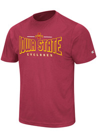 Colosseum Iowa State Cyclones Crimson Hooked Tee