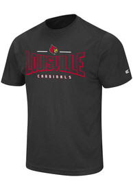 Colosseum Louisville Cardinals Black Hooked Tee