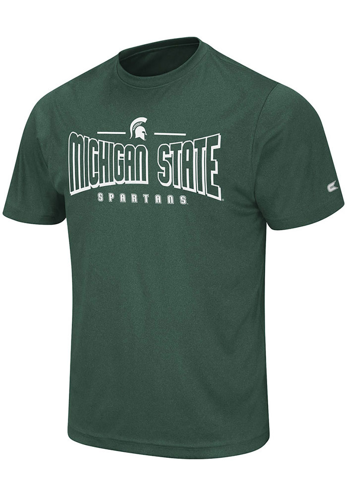 Colosseum Michigan State Spartans Green Hooked Short Sleeve T Shirt - Image 1