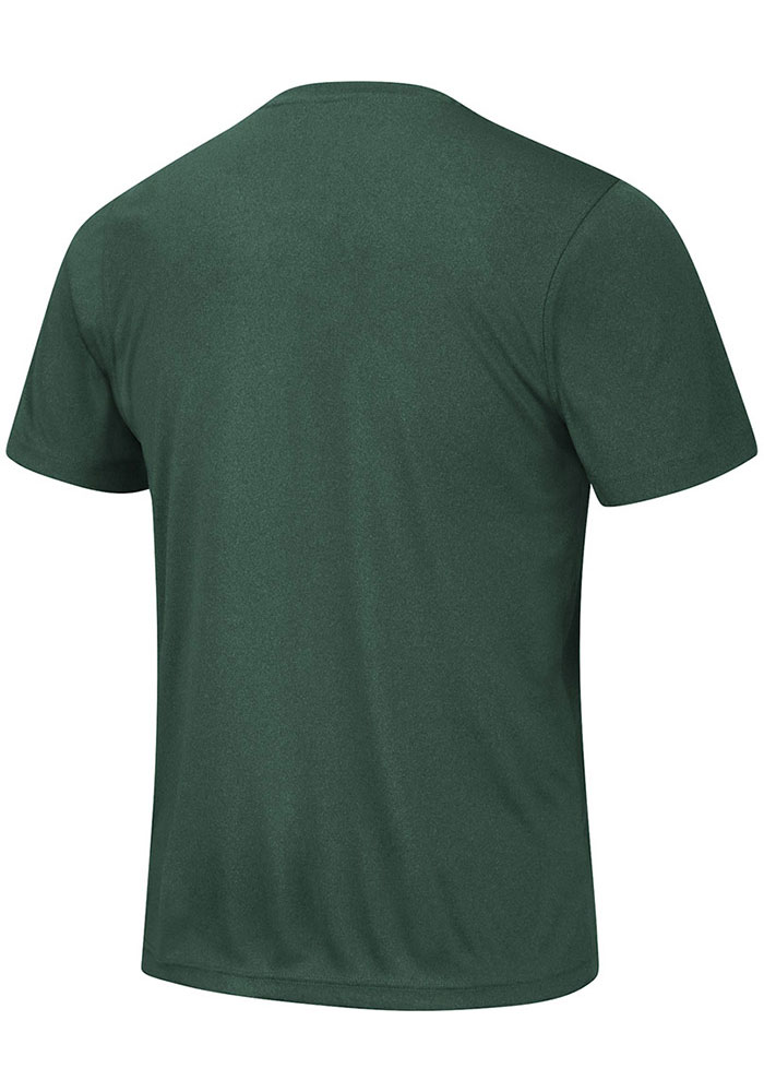 Colosseum Michigan State Spartans Green Hooked Short Sleeve T Shirt - Image 2