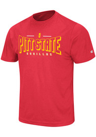 Colosseum Pitt State Gorillas Red Hooked Tee