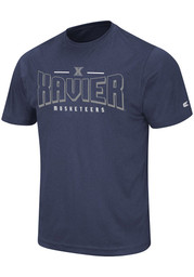 Colosseum Xavier Musketeers Navy Blue Hooked Short Sleeve T Shirt