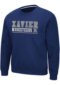 Xavier Musketeers Colosseum Rally Crewneck Crew Sweatshirt - Navy Blue