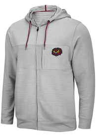 Temple Owls Colosseum Challenge Accepted Zip - Grey