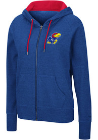 Kansas Jayhawks Womens Colosseum Genius Full Zip Jacket - Blue