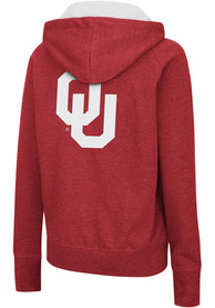 Oklahoma Sooners Womens Colosseum Genius Full Zip Jacket - Cardinal
