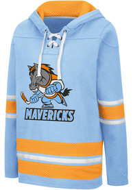 Kansas City Mavericks Womens Colosseum Roommate Agreement Hooded Sweatshirt - Blue