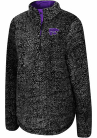 Colosseum K-State Wildcats Womens Cosmic Ray Grey 1/4 Zip Pullover