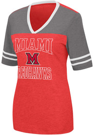 Miami RedHawks Womens Colosseum Cuba Libre T-Shirt - Red