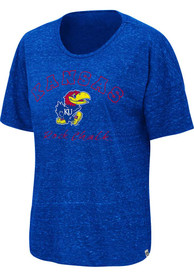 Kansas Jayhawks Womens Colosseum Sheldon T-Shirt - Blue