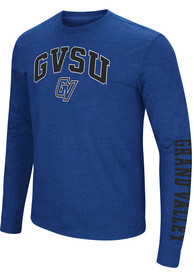 Grand Valley State Lakers Colosseum Jackson Dual Blend T Shirt - Blue