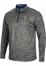 Kansas Jayhawks Colosseum Brooks 1/4 Zip Pullover - Charcoal