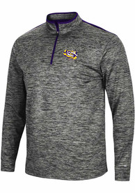 LSU Tigers Colosseum Brooks 1/4 Zip Pullover - Charcoal