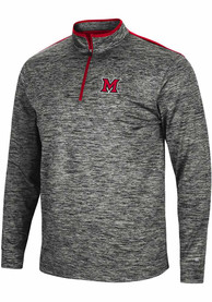 Miami RedHawks Colosseum Brooks 1/4 Zip Pullover - Charcoal