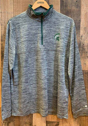 Michigan State Spartans Colosseum Brooks 1/4 Zip Pullover - Charcoal