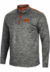 Oklahoma State Cowboys Colosseum Brooks 1/4 Zip Pullover - Charcoal