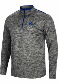 Pitt Panthers Colosseum Brooks 1/4 Zip Pullover - Charcoal