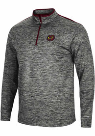Temple Owls Colosseum Brooks 1/4 Zip Pullover - Charcoal