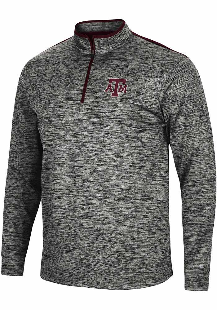 Texas A&M Aggies Colosseum Brooks 1/4 Zip Pullover - Charcoal