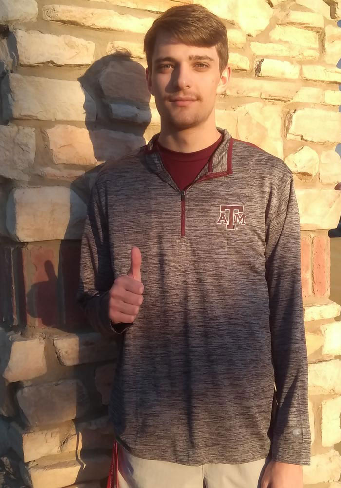 Colosseum Texas A&M Aggies Mens Charcoal Brooks Long Sleeve 1/4 Zip Pullover - Image 3