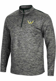 Wayne State Warriors Colosseum Brooks 1/4 Zip Pullover - Charcoal