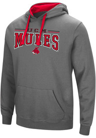 Central Missouri Mules Colosseum Graham Hooded Sweatshirt - Charcoal