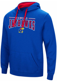 Colosseum Kansas Jayhawks Blue Graham Hoodie