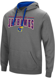 Kansas Jayhawks Colosseum Graham Hooded Sweatshirt - Charcoal