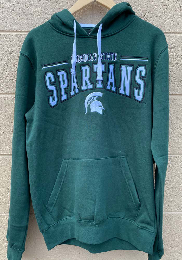 Colosseum Michigan State Spartans Mens Green Graham Long Sleeve Hoodie - Image 2