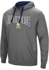 Notre Dame Fighting Irish Colosseum Graham Hooded Sweatshirt - Charcoal