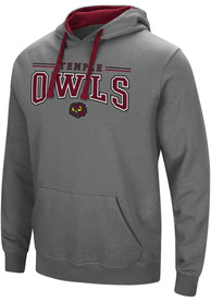 Temple Owls Colosseum Graham Hooded Sweatshirt - Charcoal