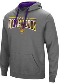 West Chester Golden Rams Colosseum Graham Hooded Sweatshirt - Charcoal